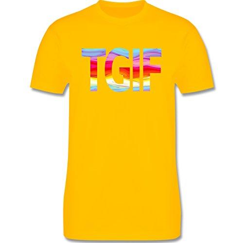 Statement Shirts - Thank god it's friday - Herren Premium T-Shirt Gelb