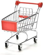 مجموعة عربة التسوق الصغيرة الصغيرة الصغيرة من MaoCo عربة تسوق ترولي سطح المكتب منظم سلة للتزيين
