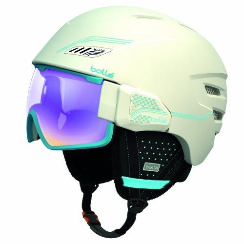 Bollé osmoz casco da sci, bianco (soft white/blue/aurora lens), 54-58 cm