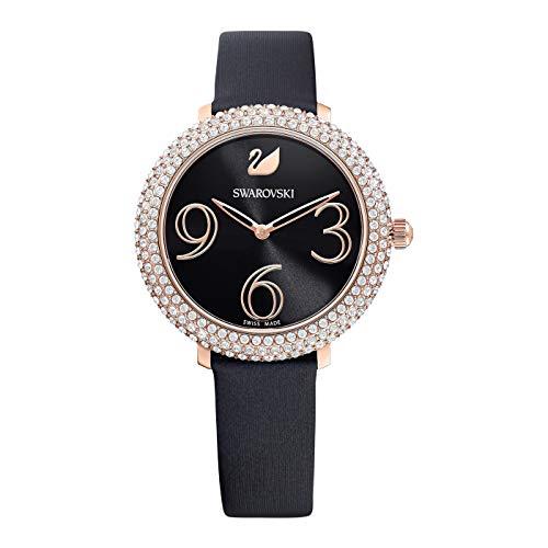 Swarovski Crystal Frost Damen-Armbanduhr 34mm Armband Leder Quarz 5484058