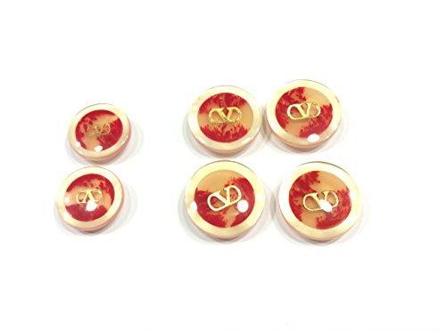 Zoom IMG-2 bottone v beige rosso decorazione