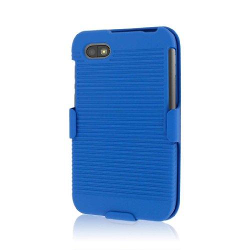 MPERO Sammlung 3 in 1 Tough Blau Kickstand Case Tasche Hülle for BlackBerry Q5