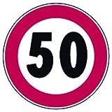 SEGNALI STRADALI DIVIETO LIMITE VEL 50 KM/H