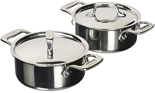 All-Clad E849A264 Stainless Steel Cocottes, 2-Piece, Silver