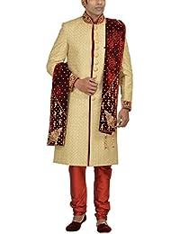 Goyal Safa Sherwani Men's Net Sherwani Set