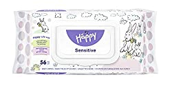 bella baby Happy Feuchttücher Sensitive mit Klickverschluss, 1er Pack (1 x 56 Stück) sanft und weich zur Babyhaut