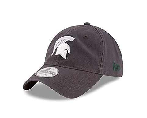 NCAA Michigan State Spartans Unisex New Era NCAA Grayed Shore 9TWENTY Adjustable Cap, Gray, One Size