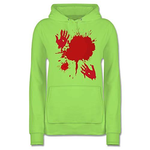 Shirtracer Halloween - Blutig Fasching Kostüm - L - Limonengrün - JH001F - Damen Hoodie