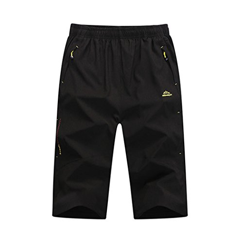 walk-leader-mens-quick-drying-outdoor-casual-waterproof-camping-hiking-biking-trousers-shorts-size-m