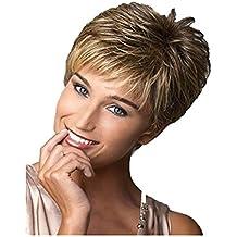 Meylee Pelucas Las señoras de mediana edad marrón pelucas de ...