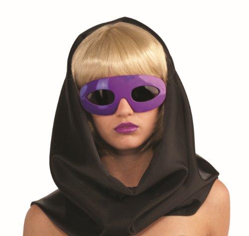 Lady Gaga Kostüm Zubehör Brille Sonnenbrille in lila