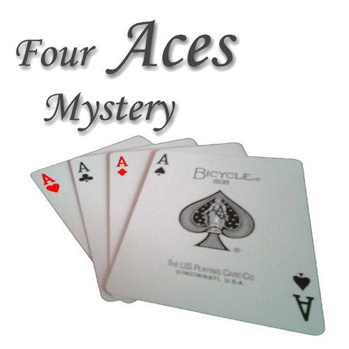 Zaubertricks und Zauberartikel Four Aces Mystery - Spektakulärer Kartentrick (Possibles Tasche)