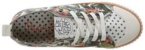 Pepe Jeans Industry Low Mix, Scarpe da Ginnastica Basse Donna Verde (Iron)