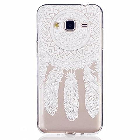 MOTOUREN Coque Pour Samsung Galaxy J3 ,transparent Housse étui en TPU Silicone Shell Housse Coque étui Case Cover Cuir Etui Housse de Protection ÉtuiSamsung Galaxy J3 - ressorts de soleil indiens