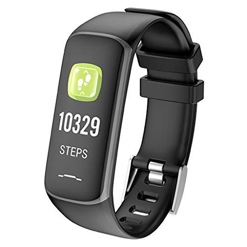 Bluetooth Smart Sportuhr mit Multifunktions-Farb-Touch, Timing-Schritt-Tracker, Blutsauerstoff-Pulsmessung, Social Sharing, Informationsabfrage, IP67 Wasserdicht, Kompatibel mit iOS/Android-Geräten