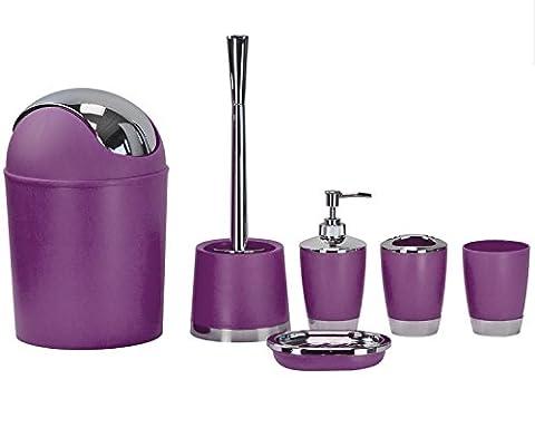 Fashion Boutique Badezimmer Set 6–Schwarz, Blau, Rosa, Grün und Violett violett