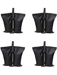 Rzmayis All Seasons Gazebos Weights, 4 Pack de bolsas de pesas de grado industrial, Carpa de fiesta al aire libre Pesas para piernas para Pop Up Gazebo, Canopy, Carpa