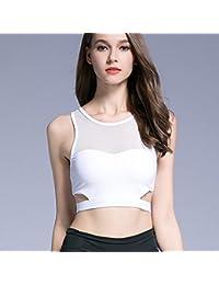 ny Ropa interior deportiva Shock Running Fitness Vest Girls recolectar la sección delgada sin traza de acero Bra ( Color : Blanco , Tamaño : M )