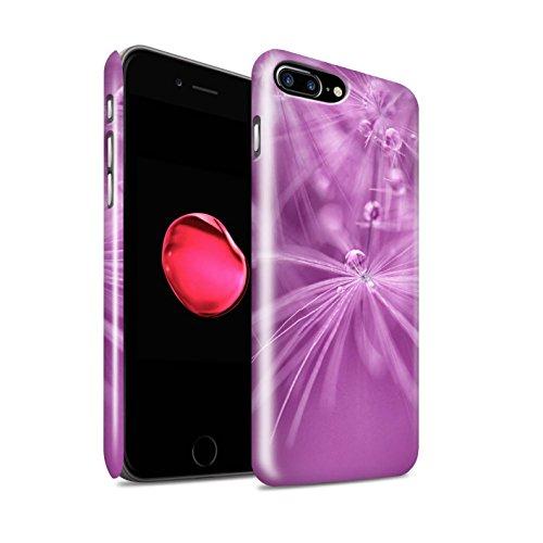 STUFF4 Glanz Snap-On Hülle / Case für Apple iPhone 8 Plus / Grün Blume Muster / Blumen Fee Tropfen Kollektion Rosa Blume