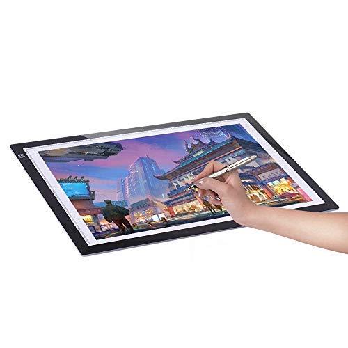 Aibecy Mesa Luz Tableta Caja Dibujo A2 LED Portátil
