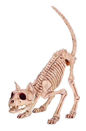 Katze Kostüm Mädchen Lil Für - WSJDE Fantasie-Knochen-Skelett-Katzen-Tier Lil Kitty Bonez Skeleton Bones für Horror-Halloween-Dekoration