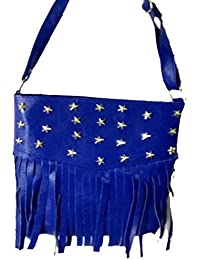 Purses For Women Mixed Leather By Rangari  Stylish Mixed Leather Sling Bag For Women And Girls (Navy Blue)