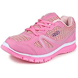Columbus L-7002 Mesh Sports Running shoes, Walking shoes, Training shoes, Camping shoes, Trekking & Hiking Shoes, Multisports shoes, Exercise & Morning walk shoes, Outdoor Multisports shoes for Women (7 UK, PinkWhite)