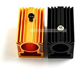 q-baihe 2unidades aluminio radiador disipador de calor 20x 27x 32mm para 12mm módulo láser dorado/negro