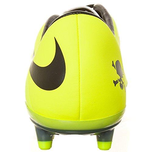 Nike HYPERVENOM Phatal FG, Chaussures de Football homme vibrant yellow-black-metallic silver-volt