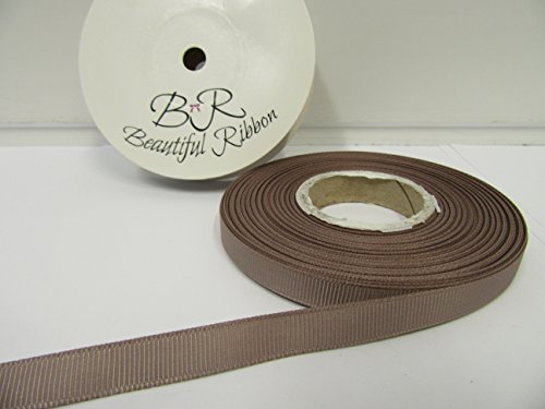Beautiful Ribbon 2 mètres x Ruban de 10mm Gros-Grain Moka Or Double Face Grosgrain nervuré 10 mm