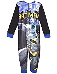 Girls Boys Kids All-in-ONE Fleece Onesie Pyjamas Nightwear Avengers Shopkins PAW Patrol Frozen Batman Marvel Avengers - Age 2-8 Years