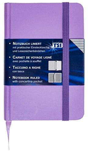 TSI 63566V taccuino con 192pagine misura 93X 140mm, a righe, colore viola