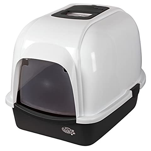 Pet Brands Oval Cat Litter Tray With Hood (One Size) (White)