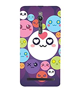printtech Smiley Circle Memes Back Case Cover for Asus Zenfone 2 / Asus Znfone 2 ZE550ML