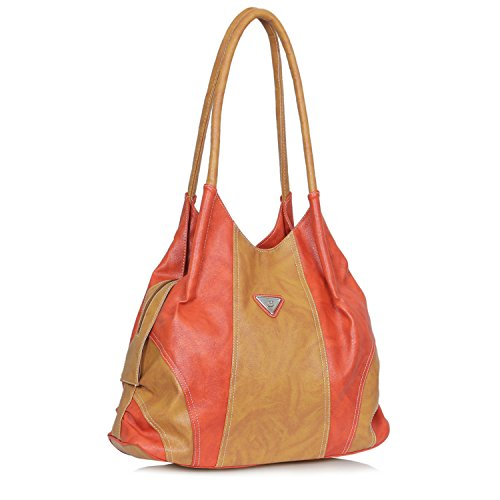 Right Choice super stylish tuff quality women's shoulder hand bags formals (Carrot Beige)