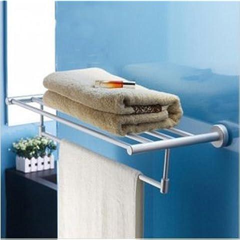 FEI&S espacio base de aluminio finamente pulidas, gran juego de toallas solo el extremo de las varillas circulares accesorios de baño