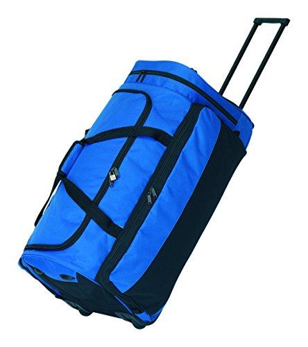 Reisetasche mit Skaterrollen Cargo blau Größe ca. 75 x 36 x 34 cm