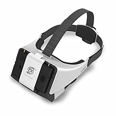 New V2.0 FXT Viper FPV Goggles 5.8GHz 40CH Video Headset Support Wearing Glasses, Detachable 5inch HDMI in Monitor, Diversity RX, DVR for RC Drone