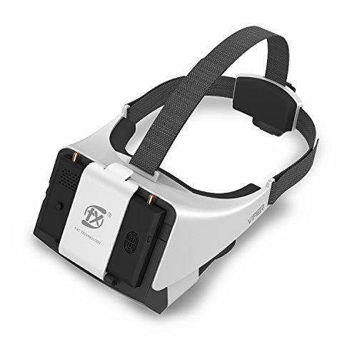 V2.0 FXT Viper FPV Brille 5,8 GHz 40CH Video Headset Unterstützung tragen Brille, Abnehmbare 5 Zoll HDMI im Monitor, Vielfalt RX, DVR für RC Drohne