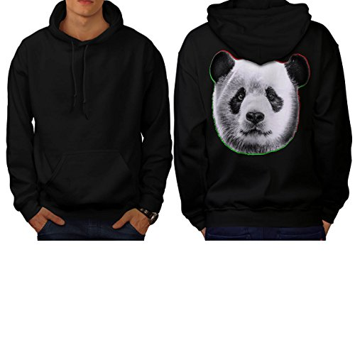 cracked-wood-panda-timber-style-men-new-black-l-hoodie-back-wellcoda