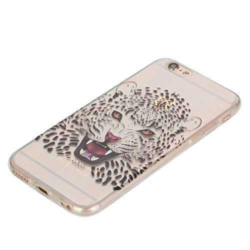 iPhone 6S Plus Coque, Aeeque Mode Fille Dessin Clear Crystal Silicone Doux TPU Protection Contre les Chutes Case Cover Housse Etui pour iPhone iPhone 6 Plus / 6S Plus 5.5 pouce Motif #24
