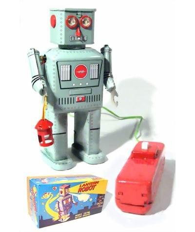 TR2050-farol-Robot-Tin-Toy-mando-a-distancia-funciona-con-pilas-fuma-duro-para-conseguir