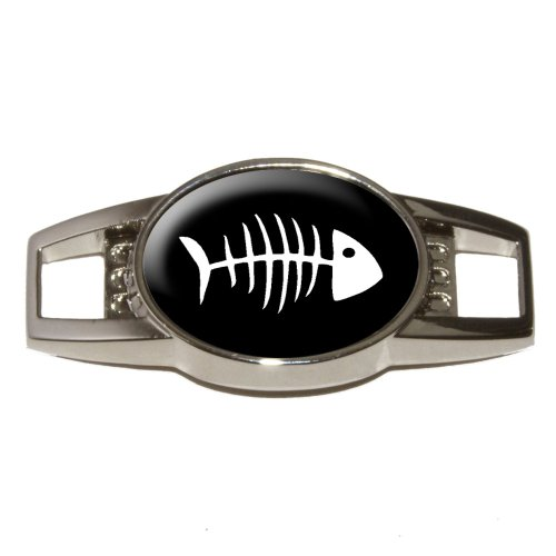 Fisch Knochen–Schuh Turnschuh Sneaker Trainer Schuhbändern Charm Dekoration (Knochen Schuhe)