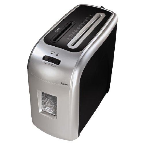 Hama Aktenvernichter bis zu 8 Blatt (Kreuz und Mikroschnitt, Shredder für Kreditkarten, CD/DVD/Blu-ray, Schutzklasse P-5/ Sicherheitsstufe 4 nach DIN 66399), Papier-Schredder (Cross Shredder)