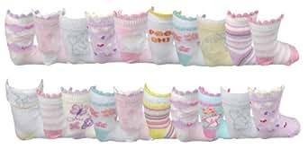 **Bon Marché** Bébés filles de 20 paires de chaussettes..!! (23-26)