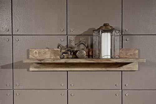MASSIVMOEBEL24.DE Sheesham Massivholz Wandregal Palisander Möbel Holz massiv Nature Grey #0109