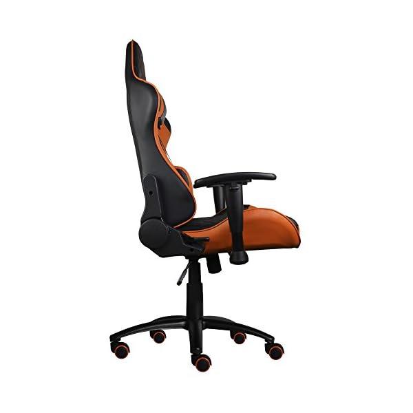 ThunderX3 TGC12BO- Silla gaming profesional-( Cuero Sintético, Inclinación y Altura regulable, Apoyabrazos) Color Negro y Naranja