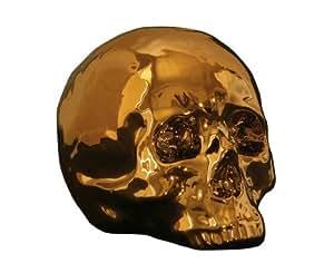 Seletti - Tête De Mort Porcelaine et Or