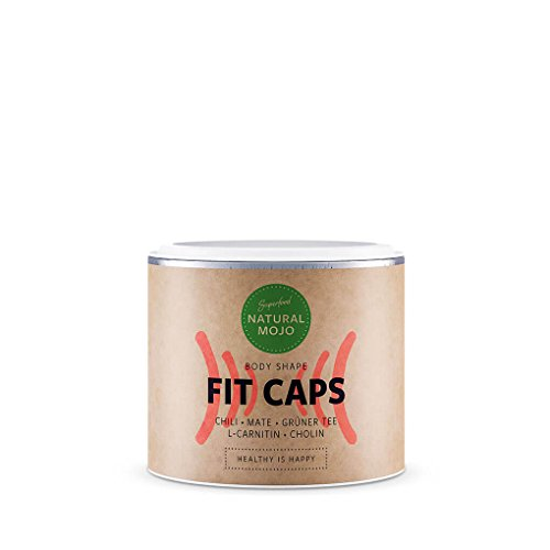 Natural Mojo Fit Caps - 90 Fitness Kapseln zur täglichen Anwendung - Nahrungsergänzungsmittel mit wertvollen Superfoods - vegan, gluten- und laktosefrei - Max 90 Caps