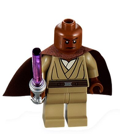 Windu Minifigure with Brown Cape and Purple Lightsaber 9526 by LEGO ()